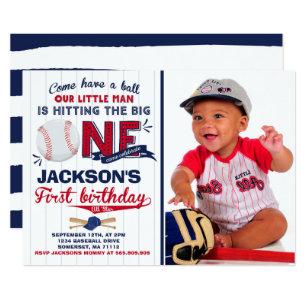 Baseball Birthday Invitation 1st