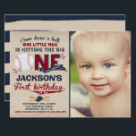 "Baseball Birthday Invitation Baseball 1st Birthday<br><div class=""desc"">A perfect Way to announce your Baseball Birthday party! Design are all &#169; PIXELPERFECTIONPARTYLTD</div>"