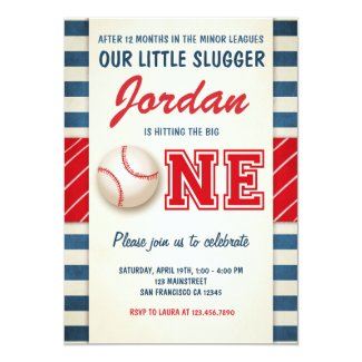 Baseball birthday invitation Birthday Party boys