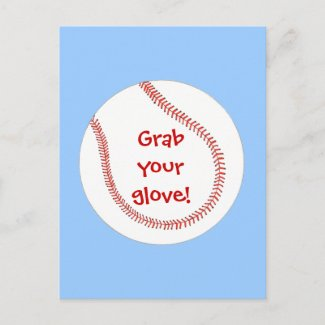 Baseball Birthday Invitations on postcards postcard