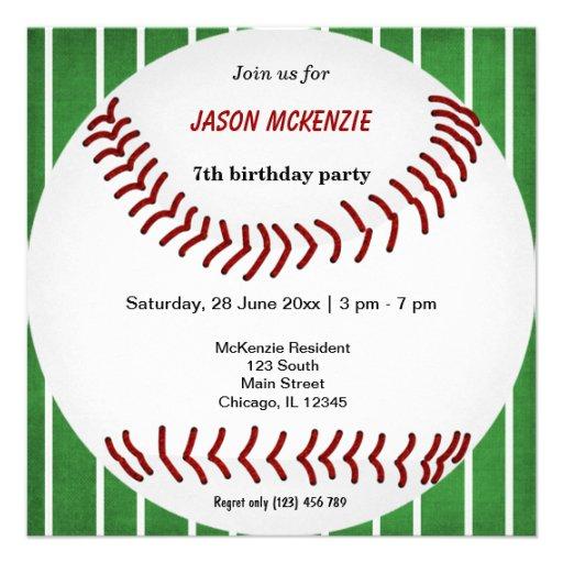 Personalized baseball invitations custominvitations4u baseball birthday invite stopboris Choice Image