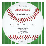 Baseball Birthday Invite