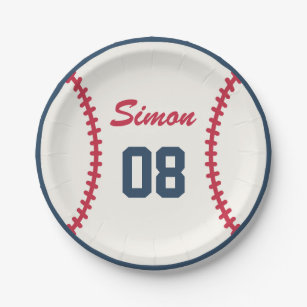 Baseball Birthday Paper Plate  sc 1 st  Zazzle & Baseball Decorative Plates | Zazzle
