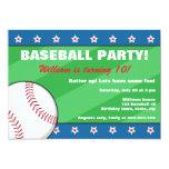 Baseball birthday party invitation for kids