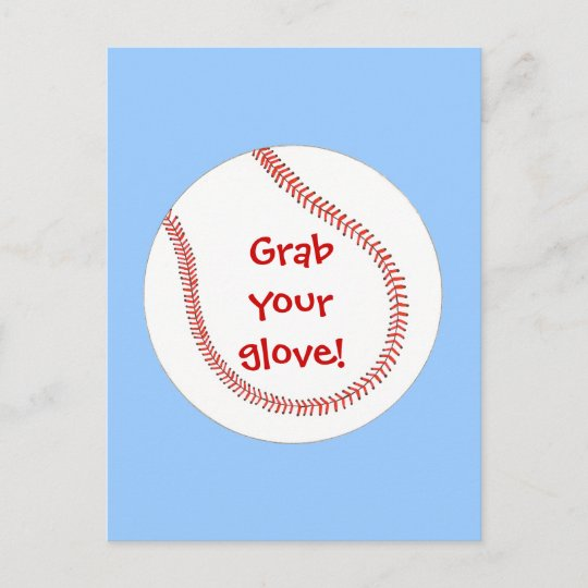 Baseball Birthday Party Invitations On Postcards