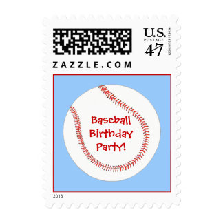 Baseball Birthday Party, postage stamps