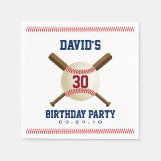 Baseball Birthday Party Sports Theme Paper Napkin