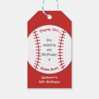 Baseball Birthday Party Tag