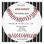 Baseball Birthday Personalized Invitations
