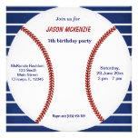 Baseball Birthday Personalized Invite