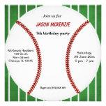 Baseball Birthday Personalized Invites