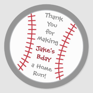 Baseball Birthday Sticker- Special Bday Labels