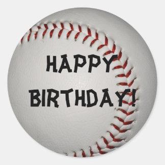 Baseball Birthday Stickers