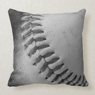BASEBALL black and white Pillows