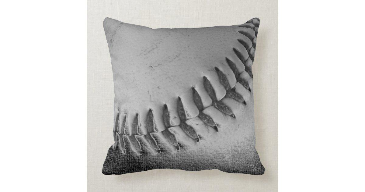 Baseball Black And White Throw Pillow Zazzle