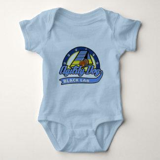 Baseball Black Lab Agility Baby Bodysuit