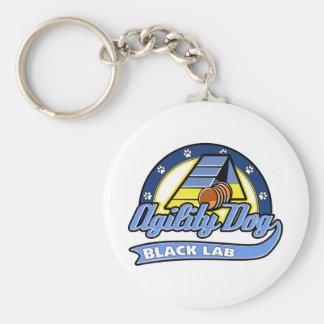 Baseball Black Lab Agility Keychain