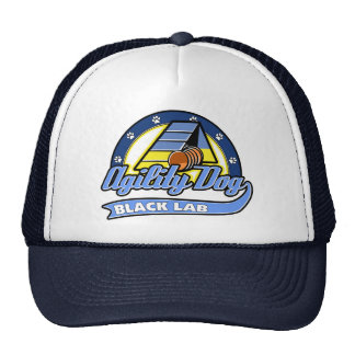 Baseball Black Lab Agility Trucker Hat