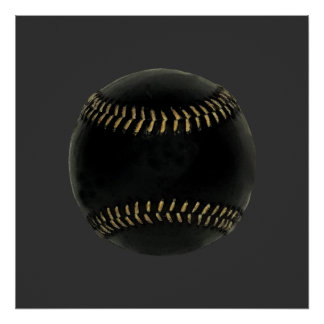 baseball black posters