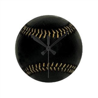 baseball black round clock