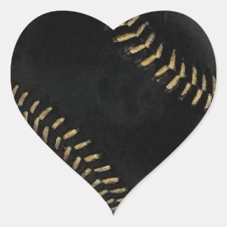 baseball black heart sticker