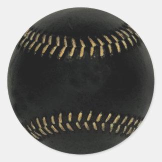 baseball black sticker