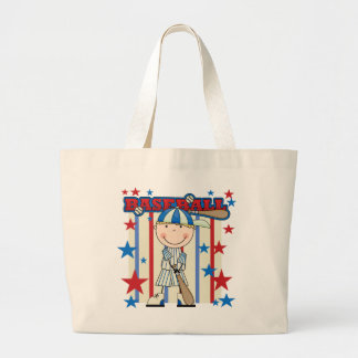 BASEBALL Blond Boy Tshirts and Gifts Large Tote Bag