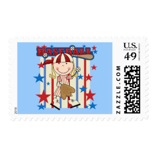 BASEBALL - Blond Girl T-shirts and Gifts Stamp