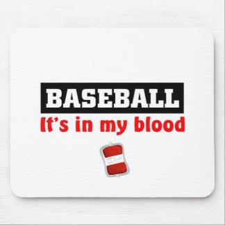 Baseball Blood Mouse Pad