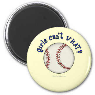 Baseball-Blue 2 Inch Round Magnet