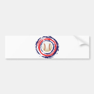 Baseball Blue And White Bumper Sticker