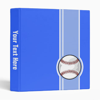 Baseball; Blue Binder