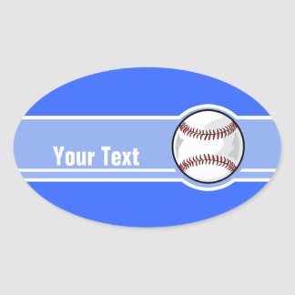 Baseball; Blue Oval Sticker