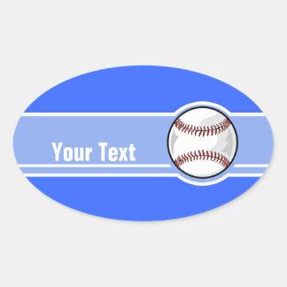 Baseball; Blue Oval Sticker