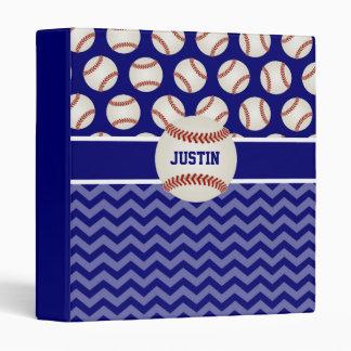 Baseball Blue Personalized Binder