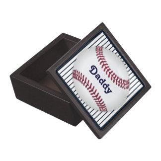 Baseball Blue Pinstripes Men's Keepsake Keepsake Box
