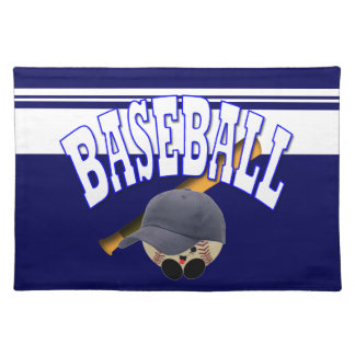 Baseball Blue Cloth Placemat