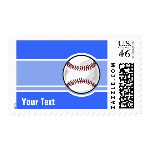 Baseball; Blue Postage Stamps