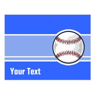 Baseball; Blue Postcard