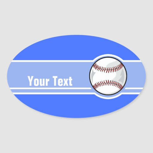 Baseball; Blue Oval Stickers