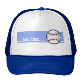 Baseball; Blue Trucker Hat