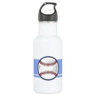 Baseball; Blue Water Bottle