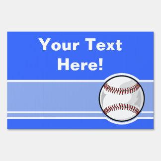Baseball; Blue Sign