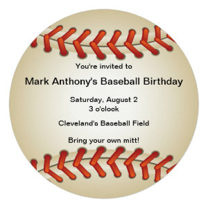 Baseball Bonanza Birthday Party Invitation