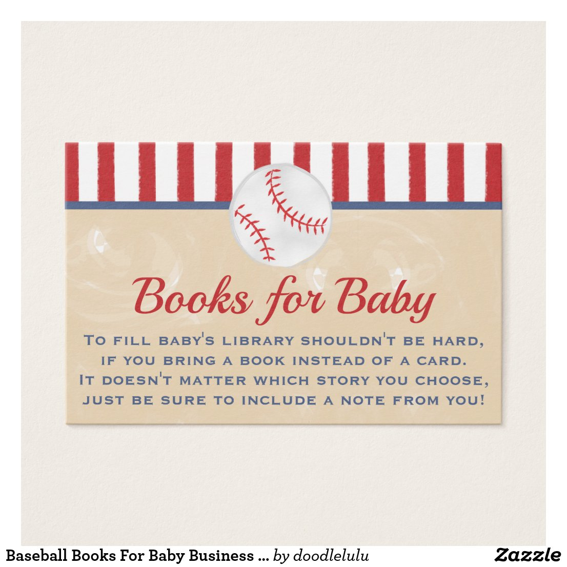 Baseball Books For Baby Business Card