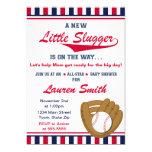Baseball Boy Baby Shower Invitation 5x7 Card