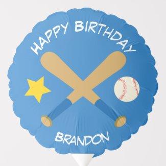 Baseball Boy Birthday Balloon
