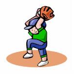 Baseball boy pitch cut outs