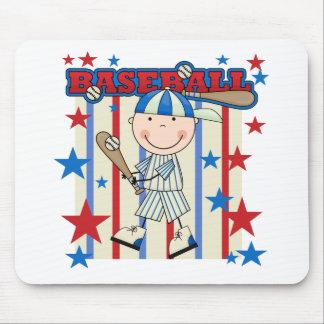BASEBALL Boy Up at Bat T-shirts and Gifts Mousepads