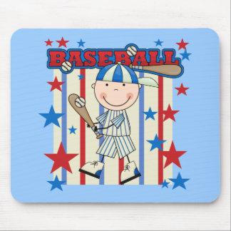 BASEBALL Boy Up at Bat T-shirts and Gifts Mouse Pads